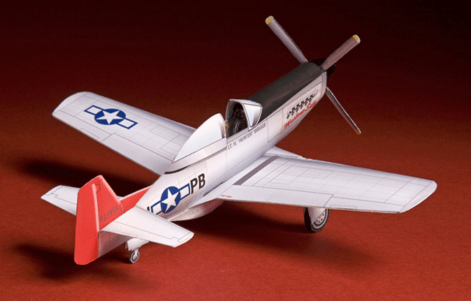 Huntlys Paper Warplanes Kits P-51 Mustang