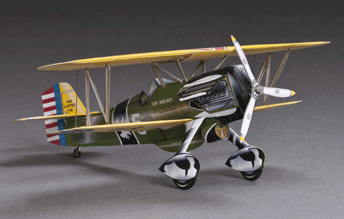 Huntlys Paper Warplanes Kits Curtiss P-6E Hawk