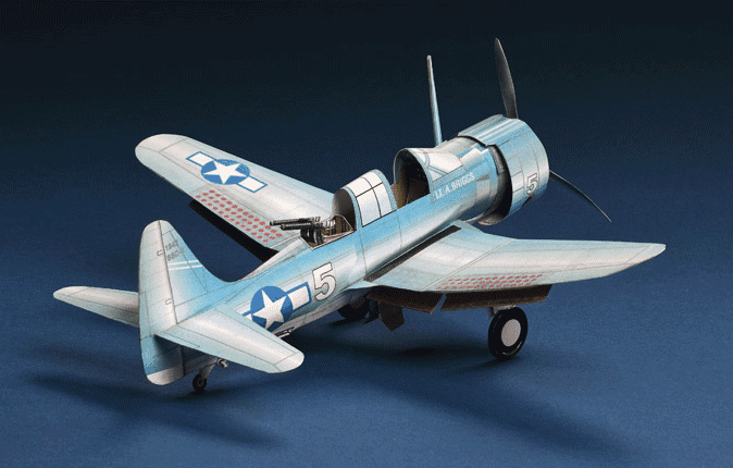 Huntlys Paper Warplanes Kits Douglas SBD-5 Dauntless