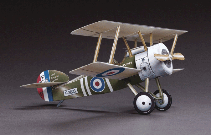 Huntlys Paper Warplanes Kits Sopwith F-1 Camel