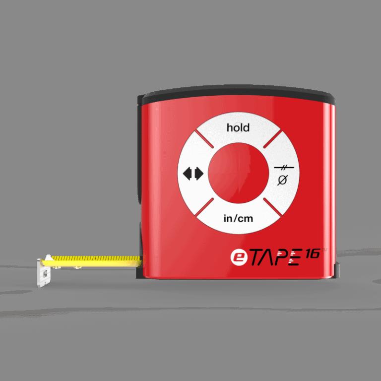 eTape16 Polycarbonate Digital Tape Measure Wheel Button Control