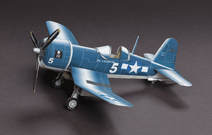 Huntlys Paper Warplanes Kits Chance Vought F4U-4 Corsair