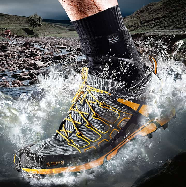 Never go exploring without a pair of breathable waterproof socks.