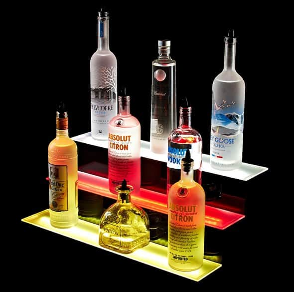 Armana Productions 3 Step Illuminated Liquor Display Shelves House Warming Gift Idea