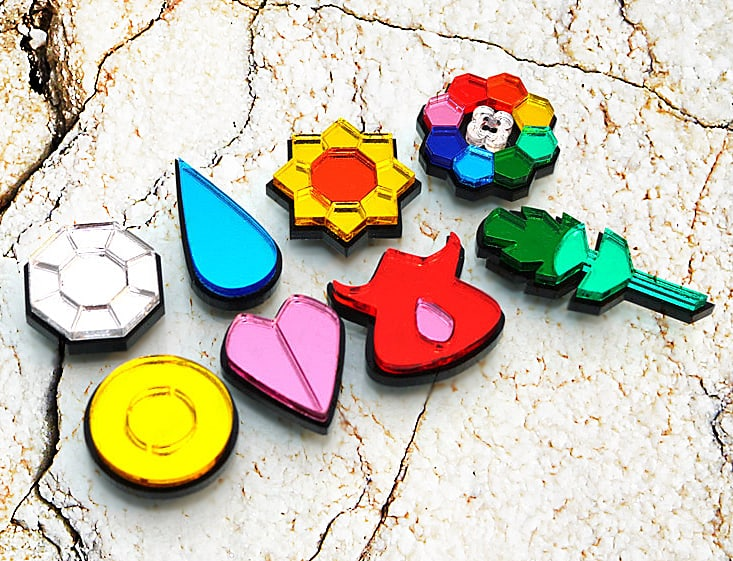 Blazer Designs Kanto Pokemon Gym Badges Buy Tiny Collectibles