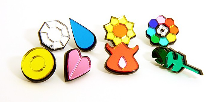 Blazer Designs Kanto Pokemon Gym Badges Cute Tiny Accessories