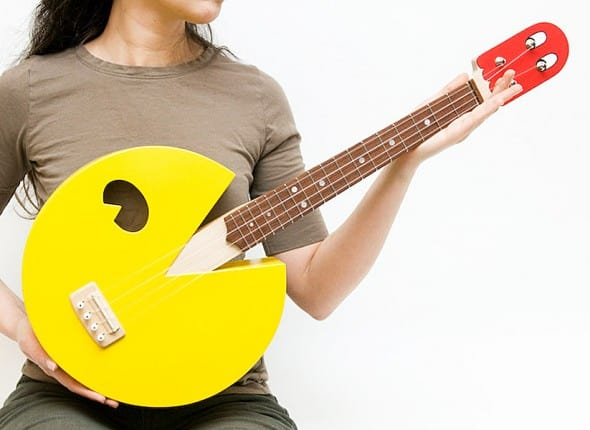 Celentano Woodworks Pac Man Ukulele Gift Idea For Teenager