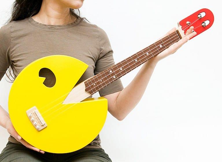 Celentano Woodworks Pac Man Ukulele Gift Idea For Teenager