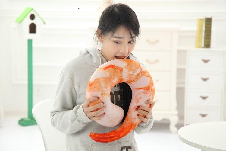 Cocktail Shrimp Neck Pillow Cheap Gag Gift