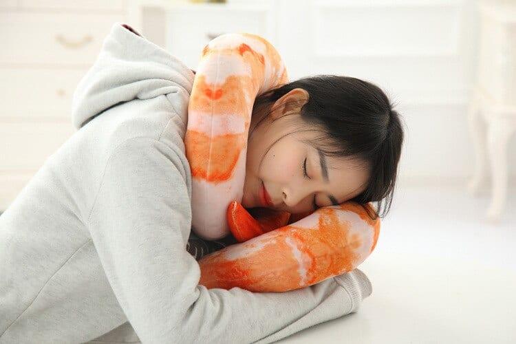 Cocktail Shrimp Neck Pillow Fun Product