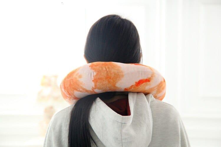Cocktail Shrimp Neck Pillow Neck Cushion