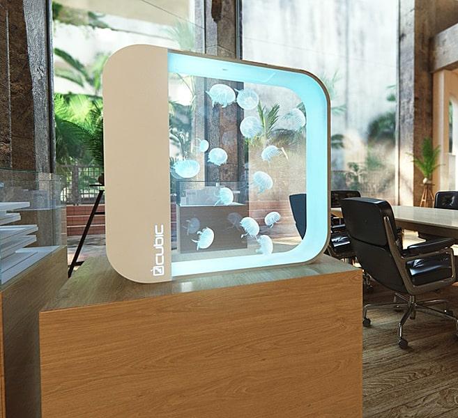 Cubic Pulse 80 Jellyfish Aquarium Living Room Underwater Design