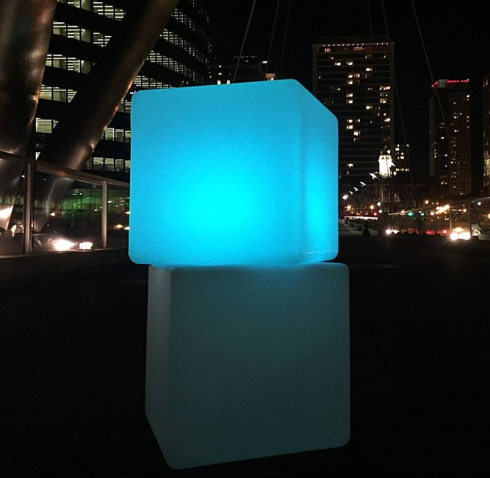 Design Kollection Outdoor Led Light Cube Noveltystreet