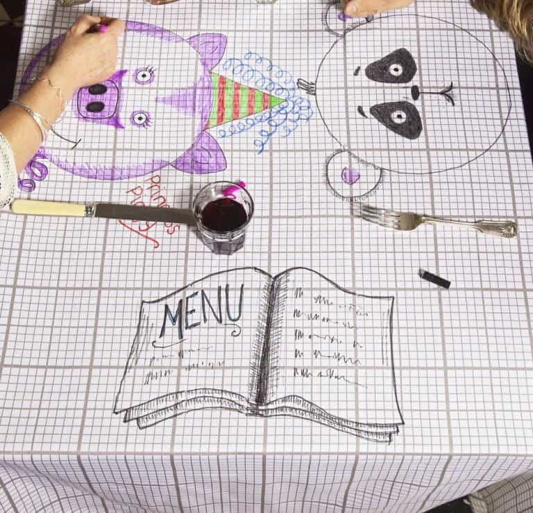 Eat Sleep Doodle Doodle Cotton Tablecloth Artist Must Haves