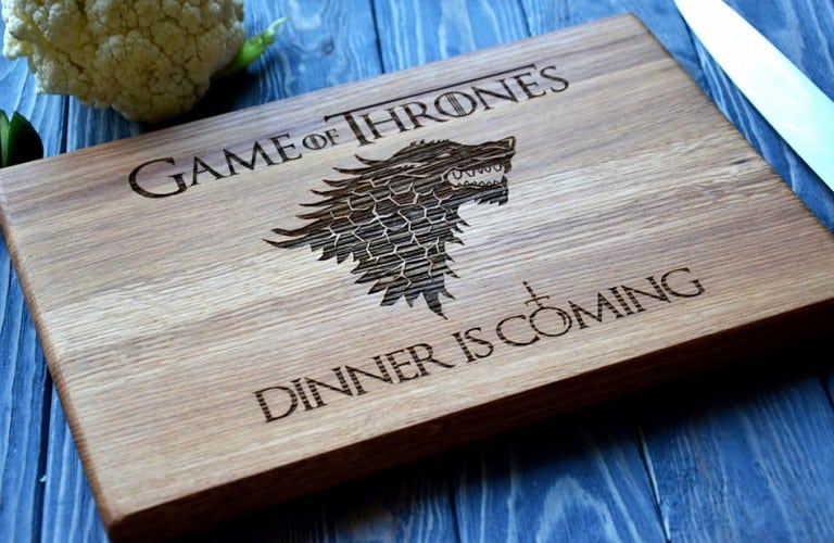 Enjoy the Wood Dinner is coming Game of Thrones Chopping Board Buy Cool Kitchen Tools