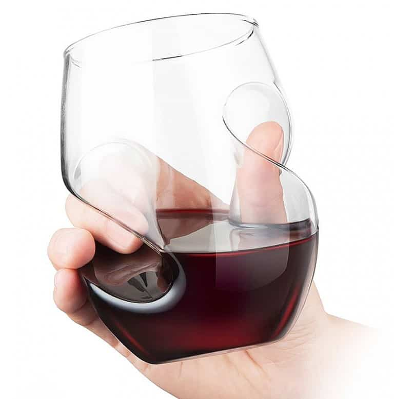 Final Touch Conundrum Aerating Wine Glass Multi Purpose Drinking Accessory
