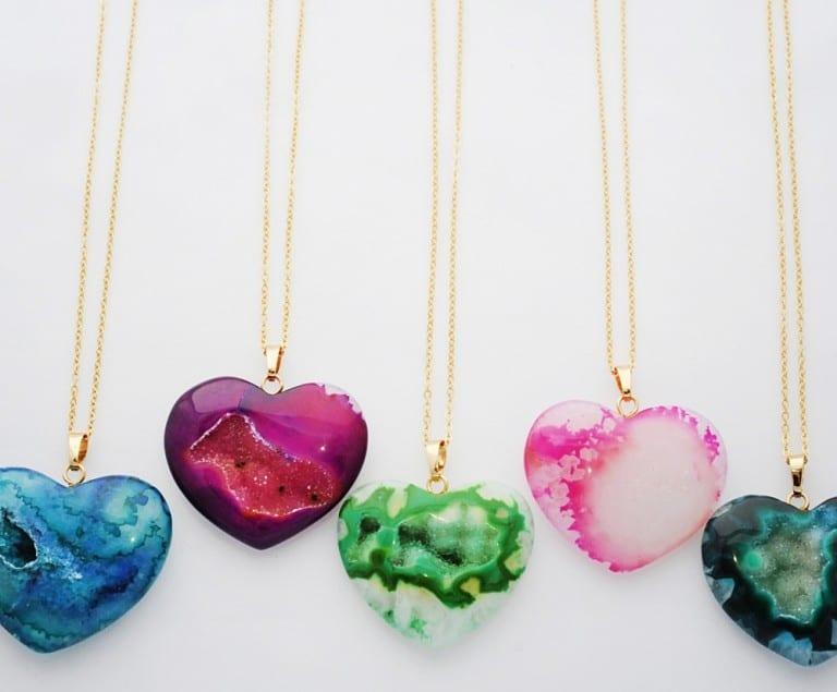 Florange Jewelry Agate Heart Necklace Buy Girly Stuff
