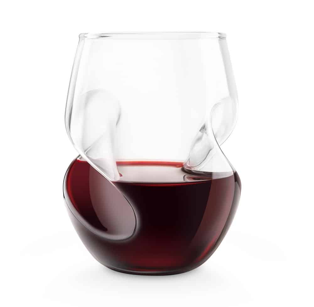 GG5009-Red-Final Touch Conundrum Aerating Wine Glass Elegant Liquor Drinkware