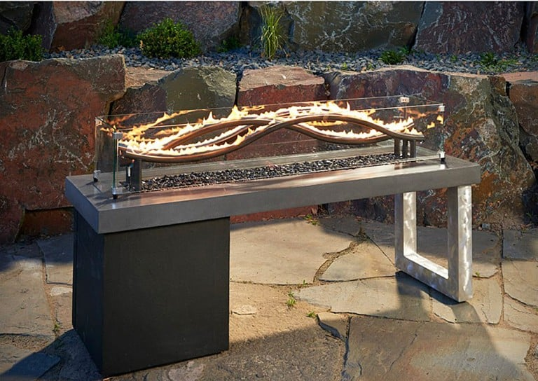 Outdoor Great Room Wave Fire Pit Table House Warming Gift Idea