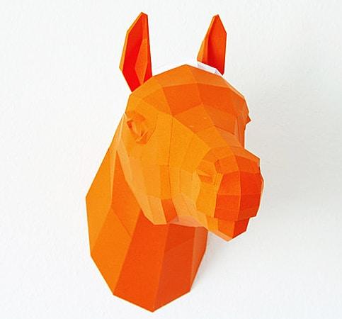 Paperwolf's Shop Paper Horse Trophy Buy Handcrafted Stuff