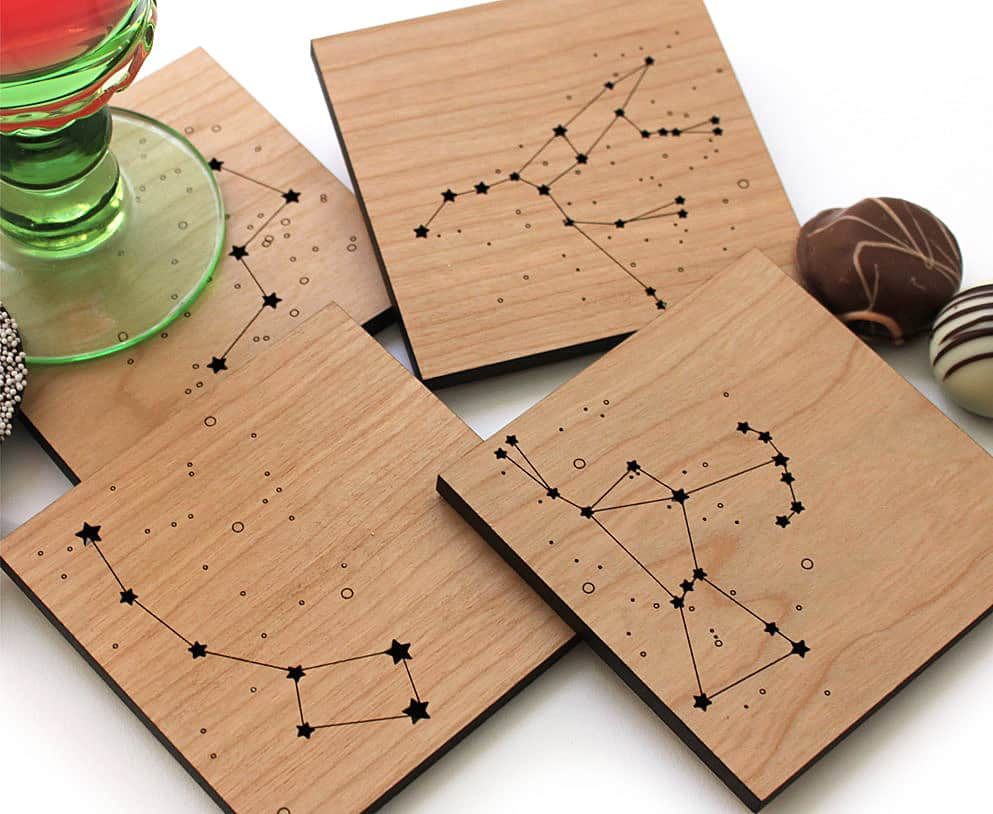 wooden stars for crafts pepper sprouts constellations coaster noveltystreet 5785