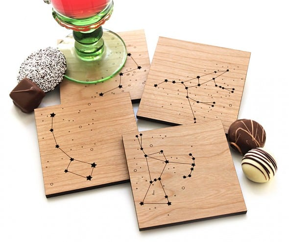 Pepper Sprouts Star Constellations Coaster House Warming Gift Idea