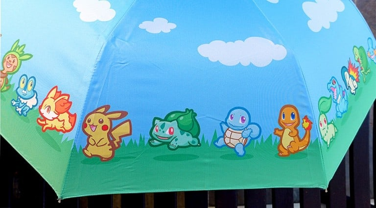 Pokemon Starter Parade Umbrella Cute Accessory For Rainy Day