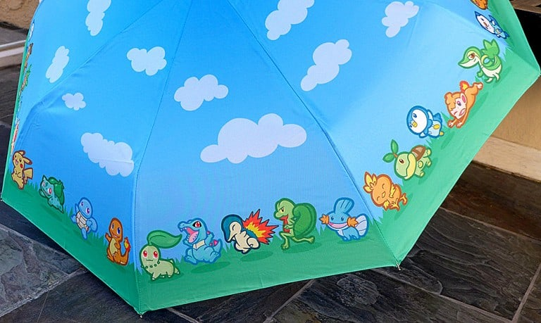 Pokemon Starter Parade Umbrella Gift Idea For Kids