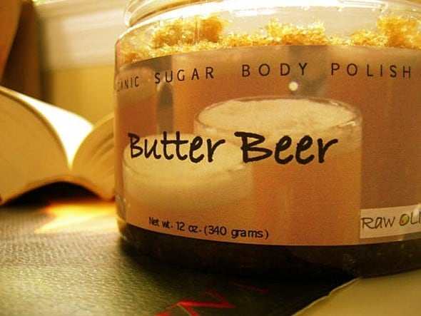 Raw Olive Butterbeer Organic Sugar Scrub Gift Idea For Her