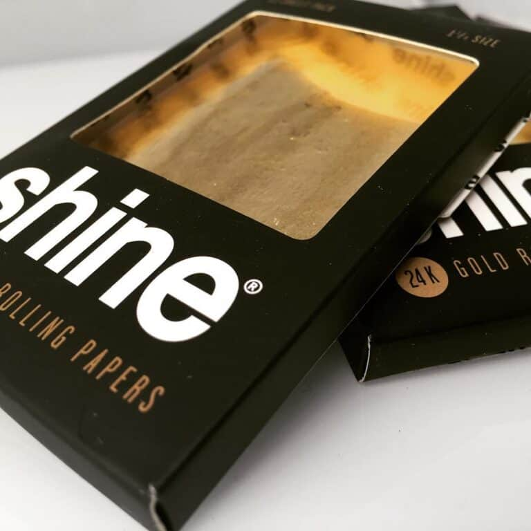 Shine 24k Gold Rolling Papers Cool Baller Gift Idea