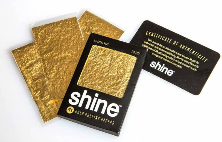 Shine 24k Gold Rolling Papers Individually Sealed with Certificate of Authenticity