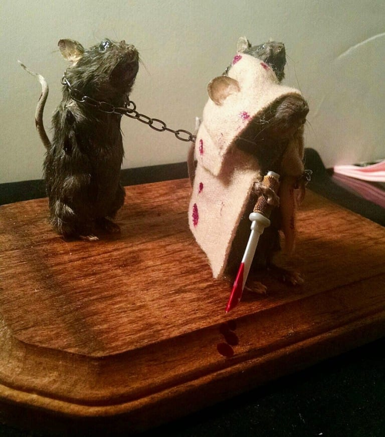 The Curious 13 The Walking Dead Michonne and friends taxidermy mice Buy Mini Zombified Stuff