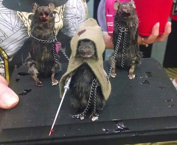 The Curious 13 The Walking Dead Michonne and friends taxidermy mice Gift Idea For Him