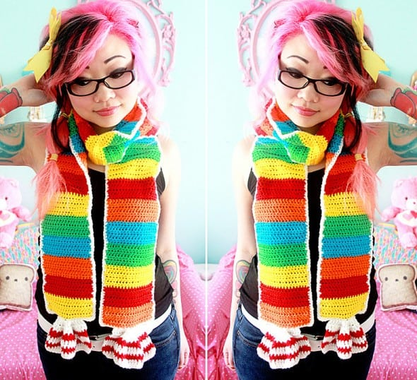Twinkie Chan Rainbow Tart Candy Scarf Gift Idea For Girls