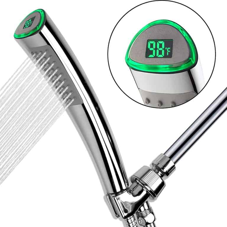 YOO MEE Shower Head with LED Temperature Display Cool Bathroom Fixture