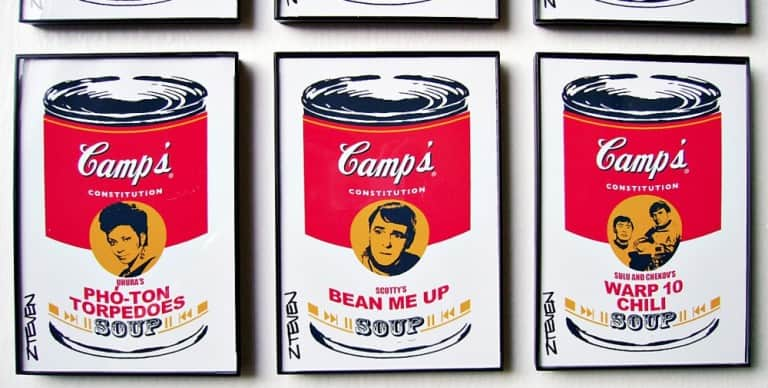 Zteven Star Trek Framed Retro Pop Art Soup Cool Collectibles