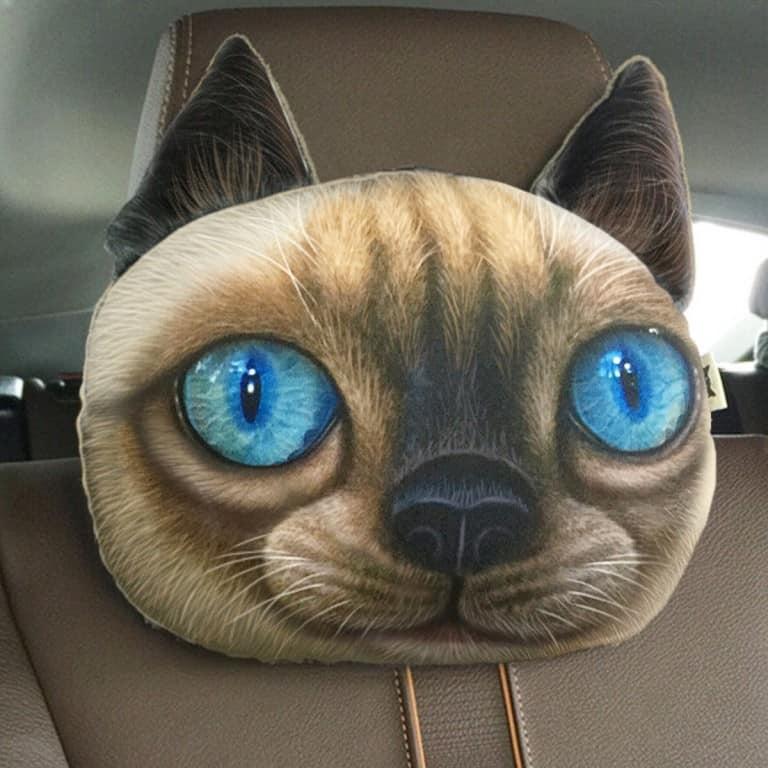 3D Cat Headrest Pillow Buy Cute Car Stuff