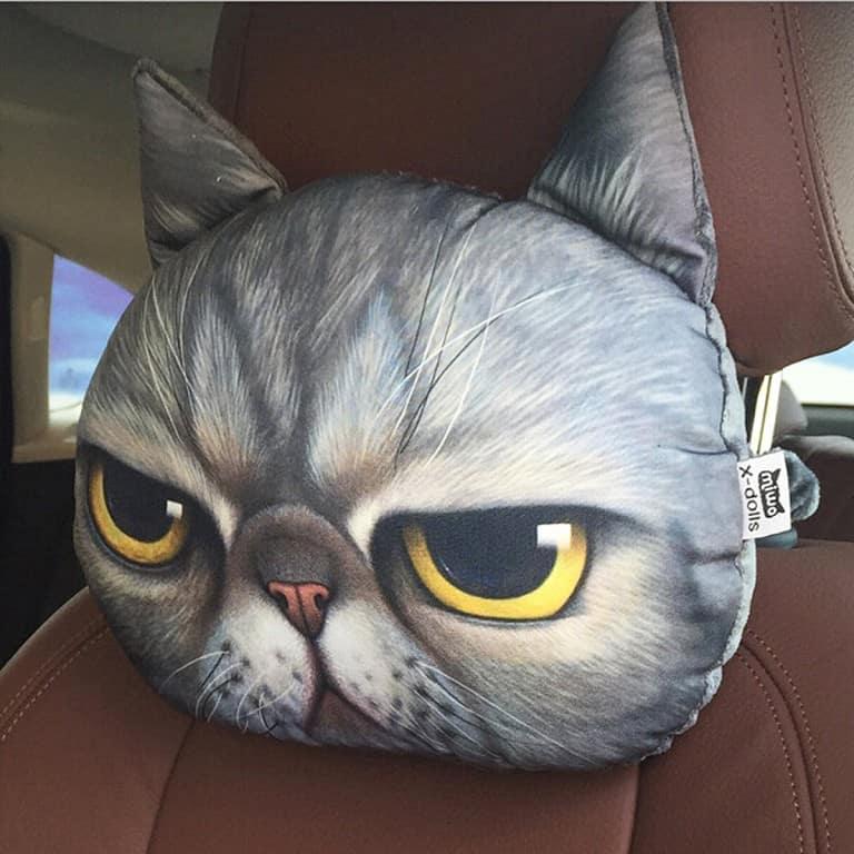 3D Cat Headrest Pillow Cat Lover Must Have