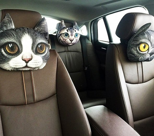 3D Cat Headrest Pillow Gift Idea For Her