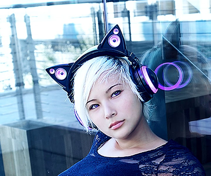Axent Wear Cat Ear Headphones Cool Accessory Design