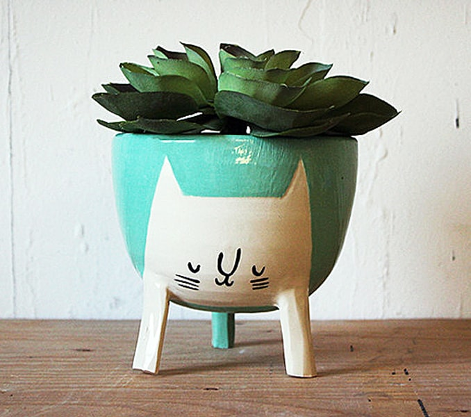 Beardbangs Three-legged Cat Planter Buy Cute Pots