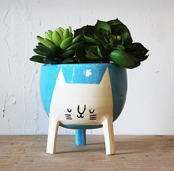 Beardbangs Three-legged Cat Planter Gift Idea For Her