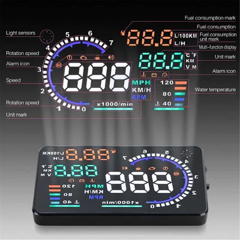 Car Head Up Display Monitor System New Driving Tool
