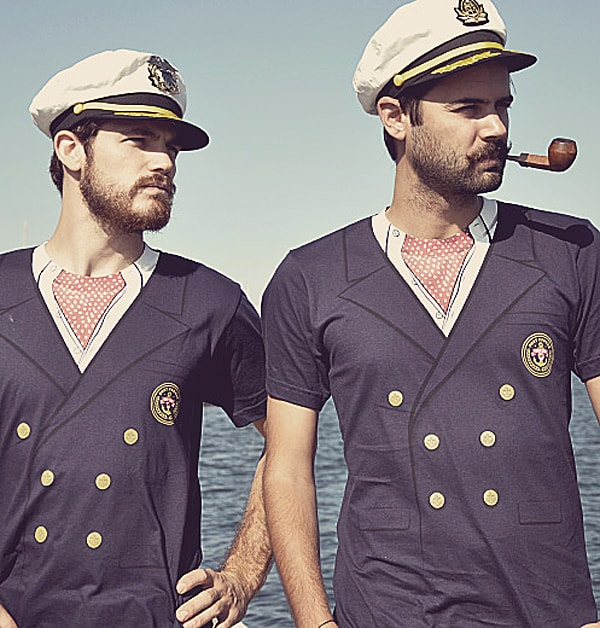 Look smart and witty with a sailor tee.