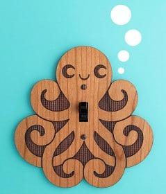 Cute octopus brightness conquers darkness.