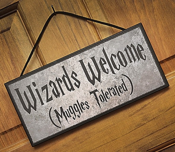 Happy Distraction Wizards Welcome (Muggles Tolerated) Plaque Gift Idea For Kids