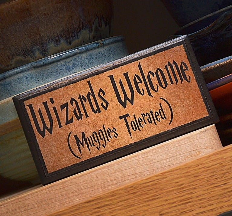 Happy Distraction Wizards Welcome (Muggles Tolerated) Plaque Harry Potter Fan Must Haves