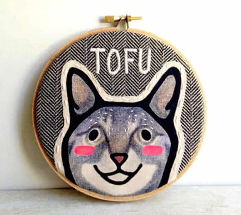 Hither Rabbit Custom Pet Portrait Gift Idea for Animal Lovers