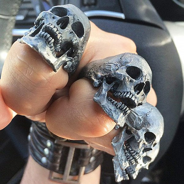 Into the Fire Jewelry Skull Ring Gift Idea For Him