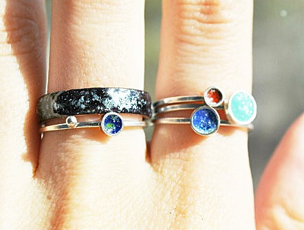 Jewelry Three Snails Planet Rings Nerdy Fashion Things